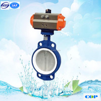gear drive pneumatic ISO IP67 butterfly valve