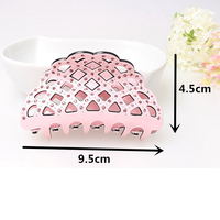 Korean Hollow Rhinestone Crystal Hair Claw Candy Color Pierced mesh plastic hair clips for women headpiece jewelry