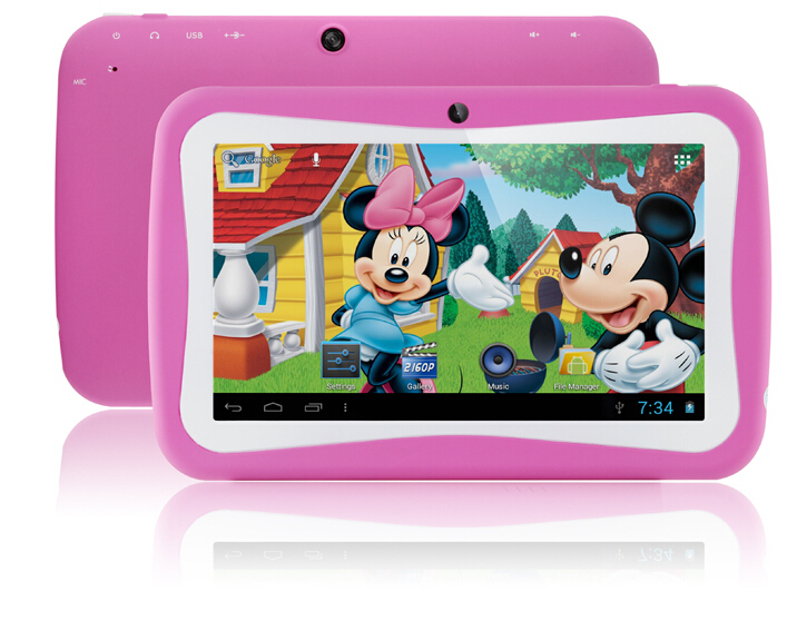 OEM cheap 7 inch Quad Core Kids Tablet PC 7'' Rockchip 3126 Cheap Android 5.1 portable Children Tablet