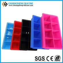 BPA free squared shape lego popsicle ice silicone mold from China manufacture