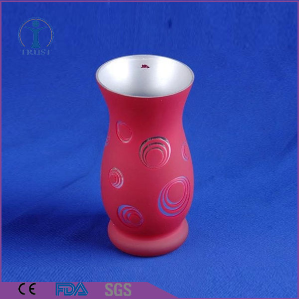 Wholesale Home Decor Machine Made High Quality Customized Decal Glass Trumpet Vase