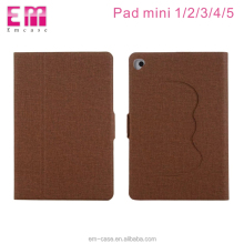 360 degree full cover soft tpu texture case for ipad mini 1 2 3 4 flip kickstander