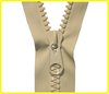 20# resin beige large heavy duty open ended zips , vislon coil big zippers for tent , plastic oversized zipper