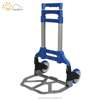 Portable steel folding hand truck strong foldable hand trolley