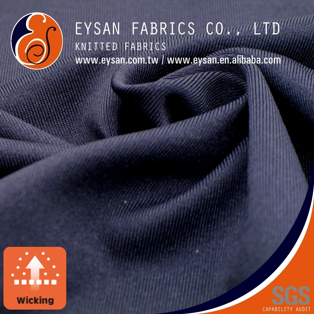 EYSAN Dri Fit Breathable Polyester Elastane Weft Knitted Fabric