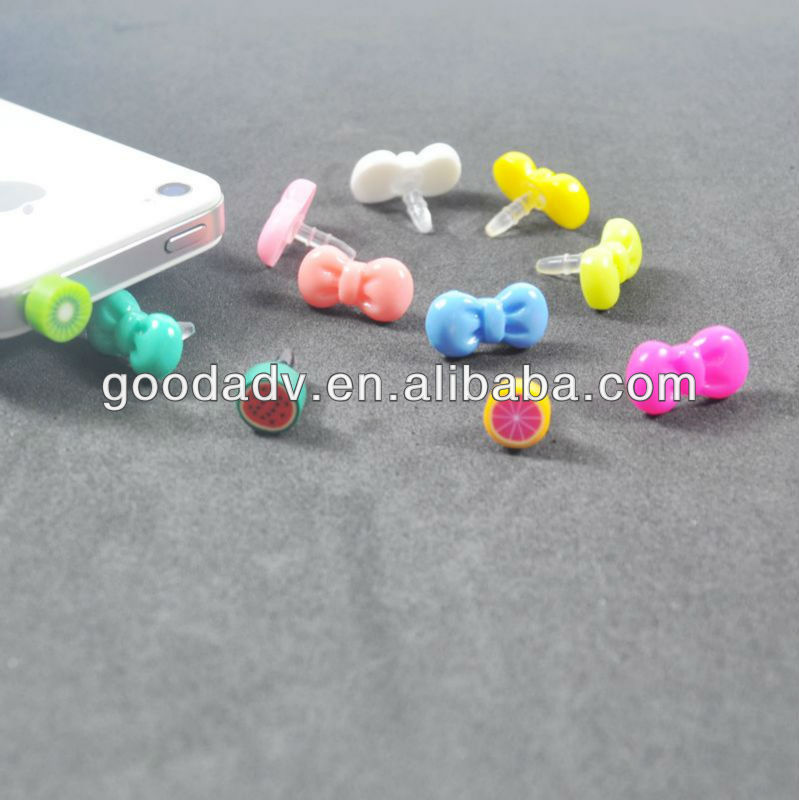New Arrival 100% Eco-friendly rubber anti dust plug/earphone jack dust cap plug/cute headphone dust plug for promotion gift