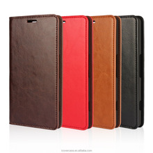 New Arrival!! Factory Wholesale Genuine Leather Retro Crazy Horse wallet case For Nokia Lumia 950XL