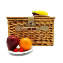Wholesale classic wicker picnic gift basket