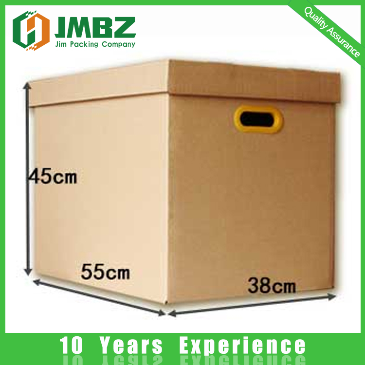 Paper corrugated carton boxes for packing with hand holes