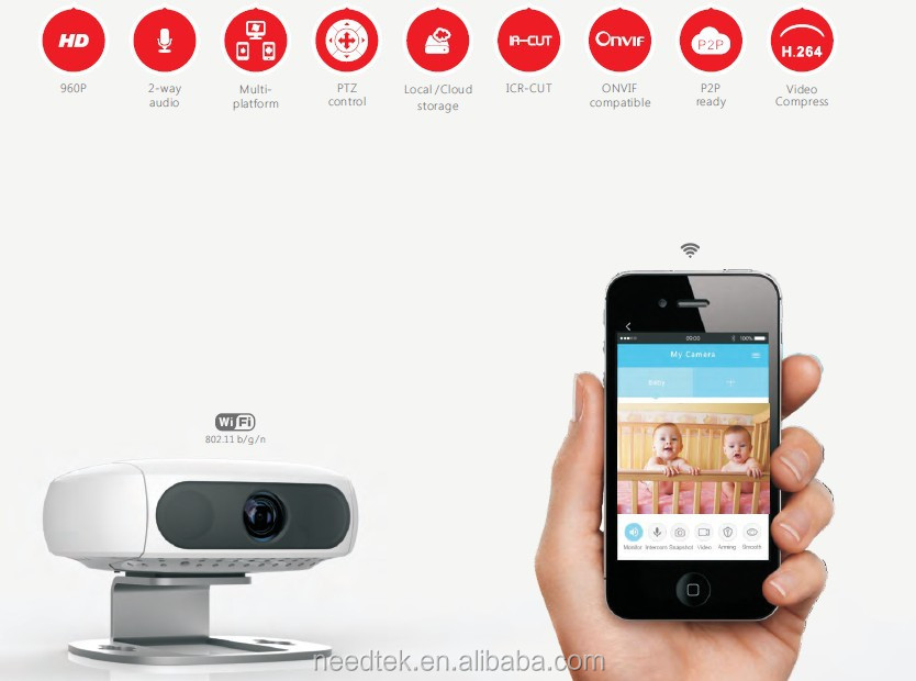 Christmas promotion new products wireless wifi mini IP camera for home secuirty baby monitor family care gift