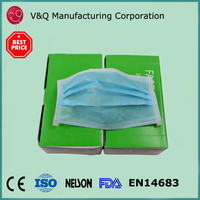 Non Woven 3ply 17.5* 9.5 disposable safety cheap face mask