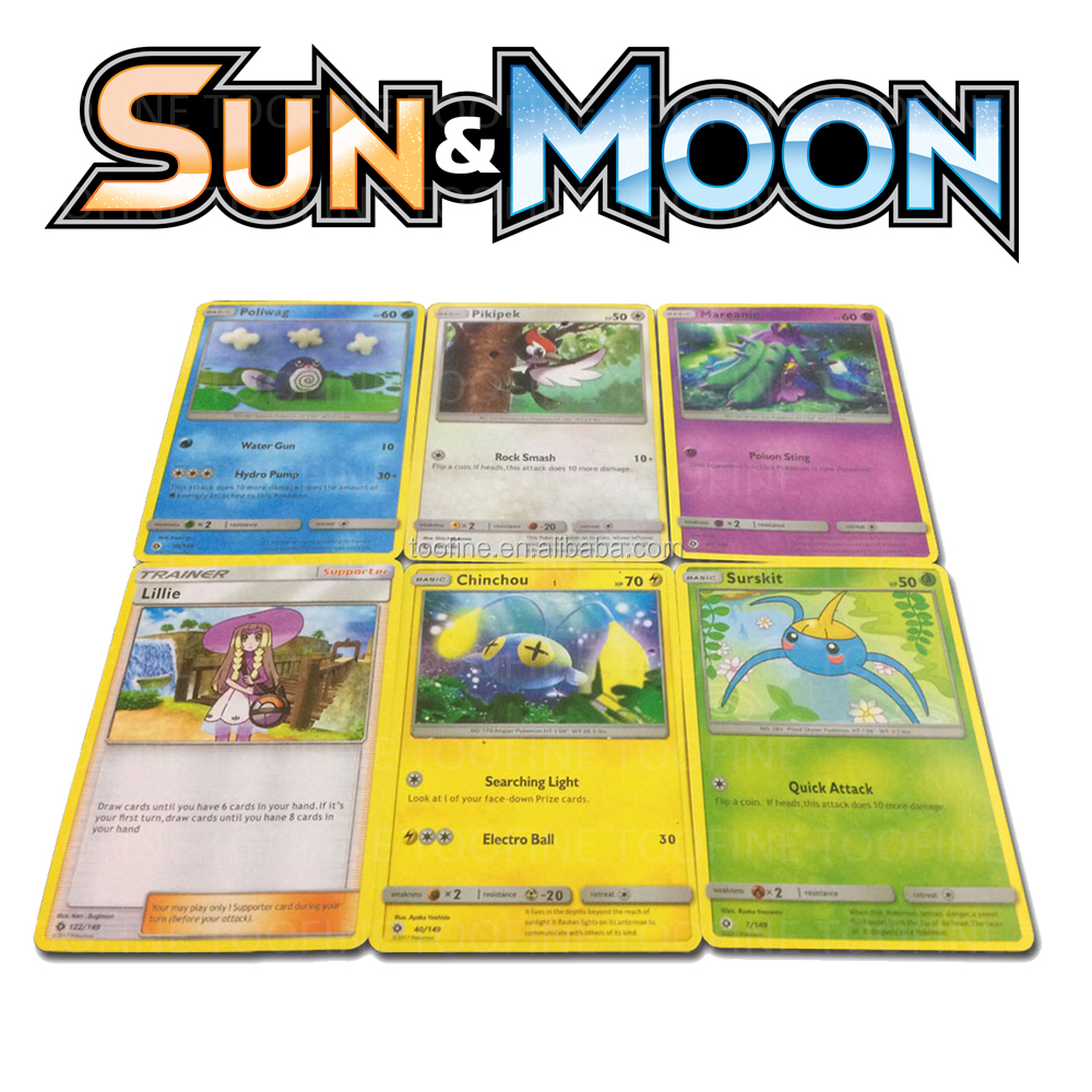 Pokemon Sun and Moon English Booster Box - 36 packs of 10 random cards
