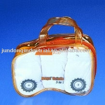 U7024 cute clear PVC bag with handle for underwear