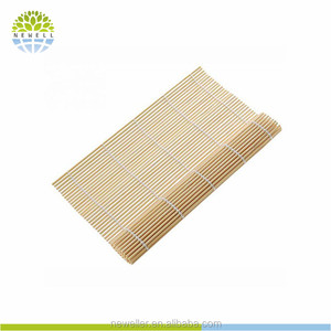 Supermarket sell plastic packing bamboo sushi roller mat with customize logo