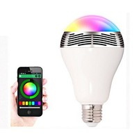 2014 new China Alibaba colorful wireless bluetooth speaker led lamp with microphone