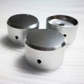 OEM Custom CNC Machining Anodized Silver Aluminum Knurling Knob For Electrical Equipment