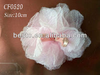 CF0520 American design fine pink baby organza flower for girl