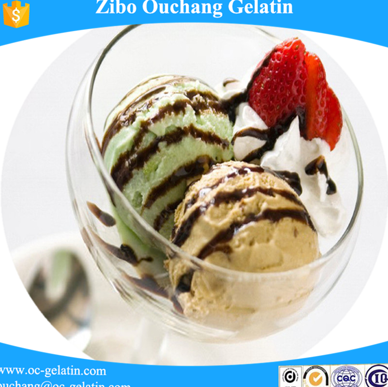 Top sale delicious food 150 bloom Food grade gelatin / Nutrition Enhancers for ice cream