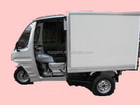 cargo tricycle with closed box/enclosed cargo three wheel motorcycle