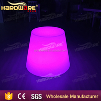 Multicolor LED plastic high top cocktail tables for party,event,KTV,nightclub