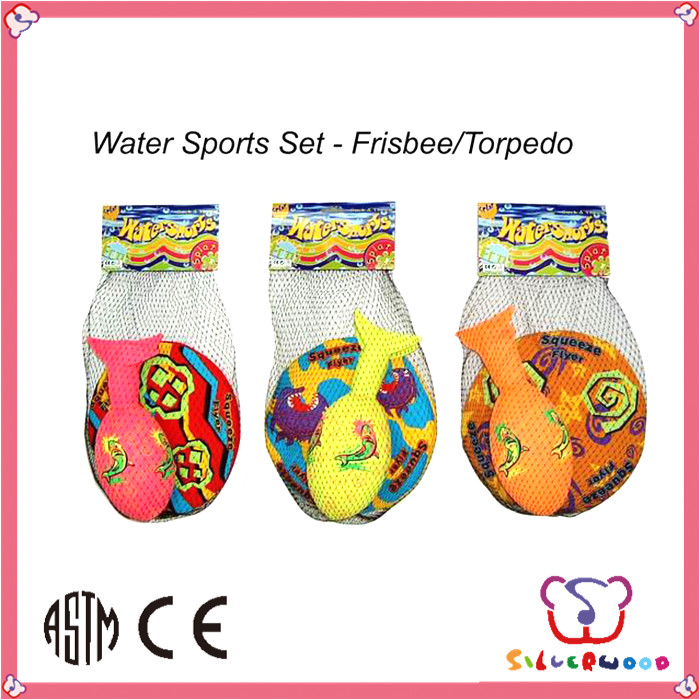 GSV certification polyester fabric customized bubble frisbee set