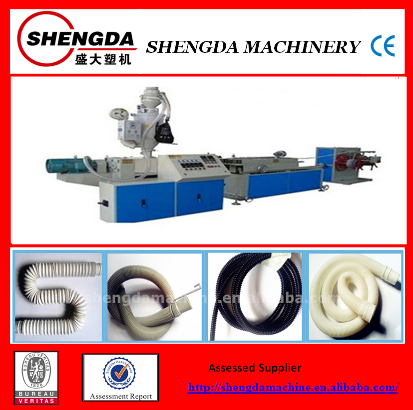 automatic single wall corrugated pipe production line/extruder equipment