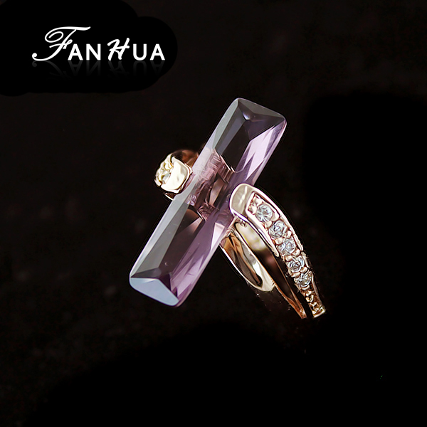 Free Shipping Elegant 18K gold Plated Imitation Crystal Women Class <strong>Ring</strong>