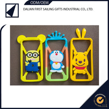 Cute smart 3d printing cartoon silicone rubber mobile cover cell phone case