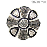 925 Silver Rose Cut Diamond Ring Vintage Reproduction Jewelry Supplier