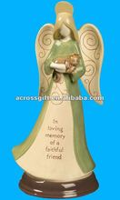 Beautiful ceramic angel statue for home decoration