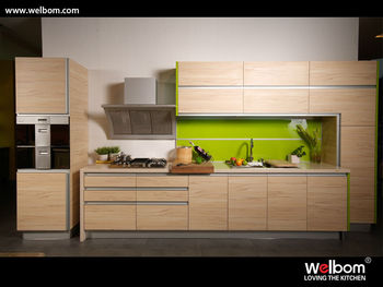 Cheap wood modern complete melamine china kitchen cabinet for Cheap kitchen cabinets from china