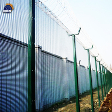 PVC coated 358 Security Fence Prison Mesh Powder Coated 358 Mesh No Climb High Security Fence