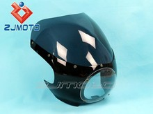 "Cafe Racer Drag Racing Light Fairing&Windshield 5-3/4"" Motorcycle Front Headlight Fairing For Sportster Dyna W/39mm Forks FX/XL"