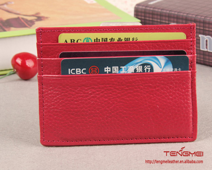 lychee leather card case, multi-color card holders