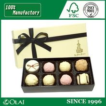 Classical printed paper chocolate case with stain