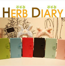 Samsung Galaxy Note2 GT-N7100 Herb Diary PU Leather Wallet Phone Case