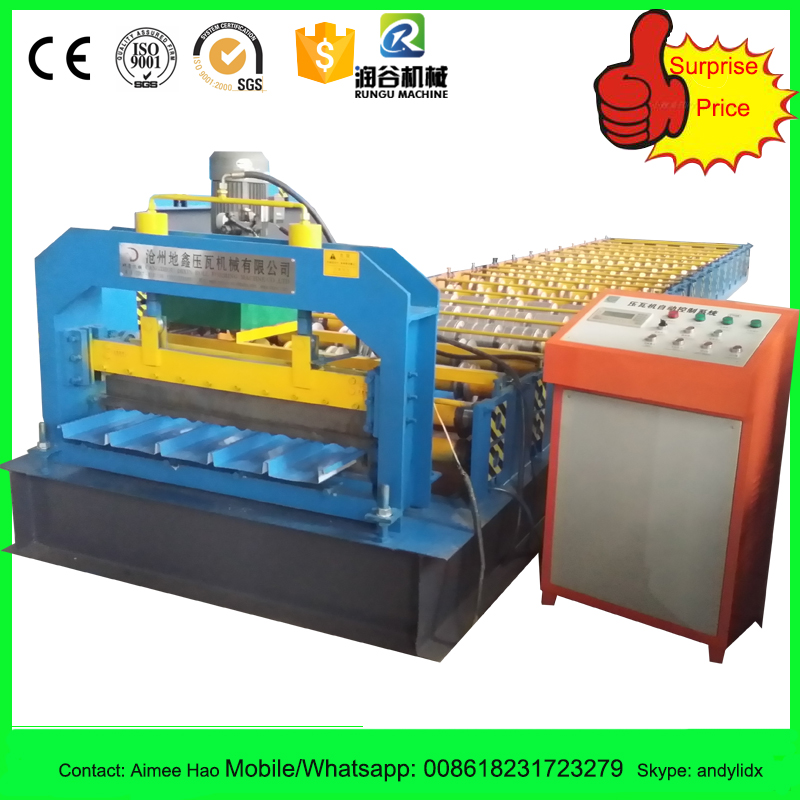 mobile galvanized roof sheet roll forming machine