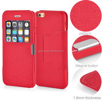 Window View Leather Case Cover For Iphone 6