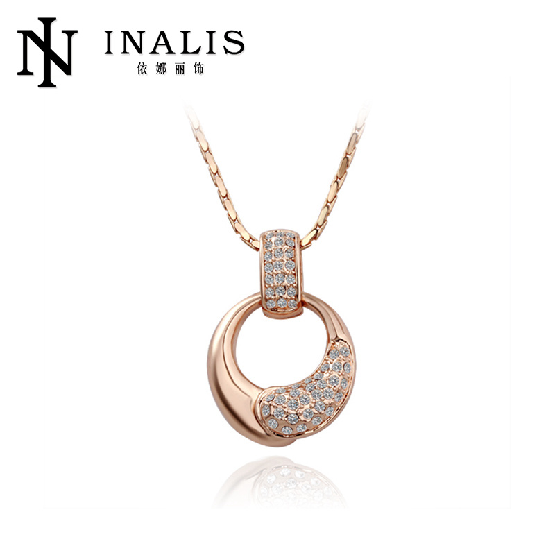 Attractive design gold plated latest long chain necklace N054