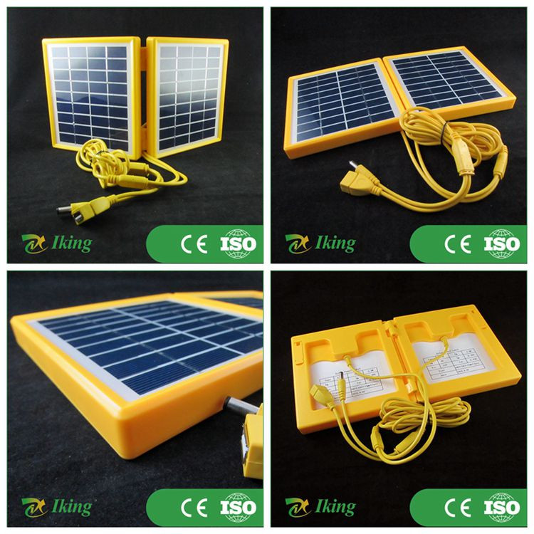 3.4w mini foldable solar panel with plastic frame usb port for phone charge