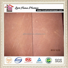 Red stone tile for outdoor flooring