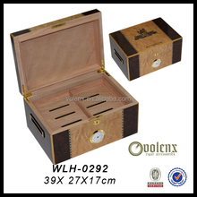 High Quality Smoke Pipes Packaging And Glossy Wood Cigar Box Instrument And French Mahogany Cigar Humidor