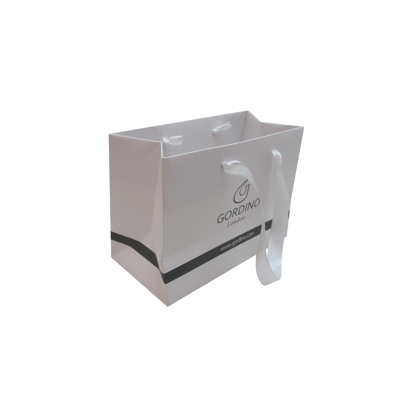 Wholesale White Paper Carrier Bag With Handle