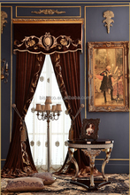 Noble Luxury Design Embroidery Velvet Window Curtain with Valance and Sheer Set