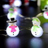 Snowman Couple LED String Lights 10 ft Copper Wire 40 LEDs with Remote & Timer for Christmas Thanksgiving Baby Shower Outdoor