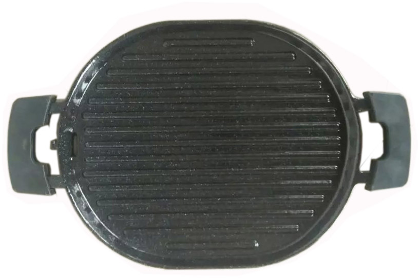 Enamel coating Cast iron bbq grill plate