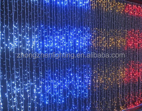 waterfall effect chasing curtain light for wall