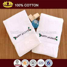 100% cotton Heavy Weight Happy Holidays Ornament Embroidery Hand Towel