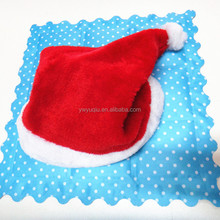 2016 Best Selling christmas ornaments Promotional Red Christmas Hat
