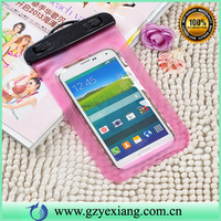 custom plastic pvc waterproof phone bag case for samsung galaxy core i8260 i8262 waterproof